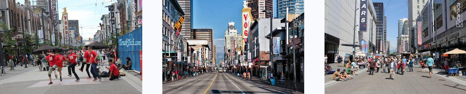 Ponto turistico em Vancouver, Granville Island Street