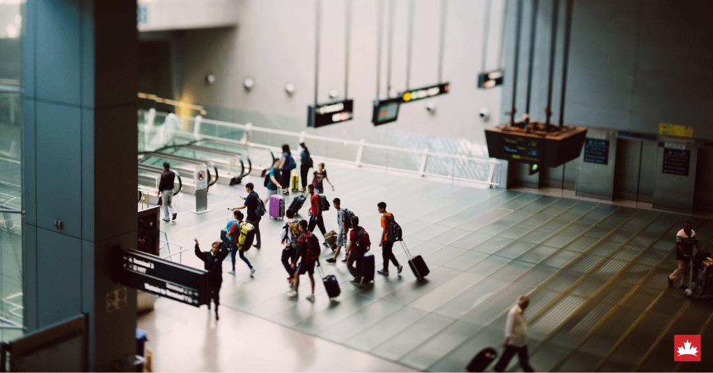 Entrada no aeroporto do canada